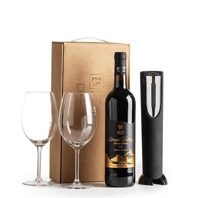 ערכת יין משודרגת-מארז יין