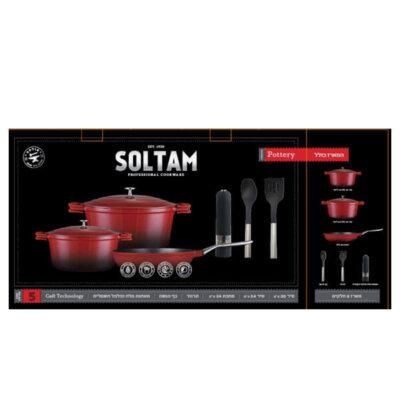 סט סירים קדירה אדום 8 חלקים Pottery-מתנות לחגיםמתנות לעובדים, כלי בית,