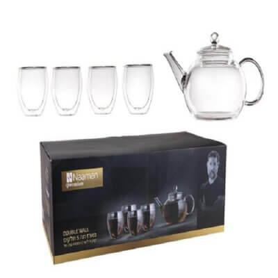 מארז תה 5 חלקים Double Wall-מתנות לחגים
