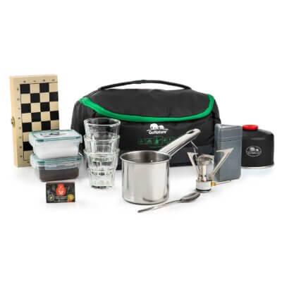 ערכת קפה קומפקטית-מוצרים לטיולים וקמפינג