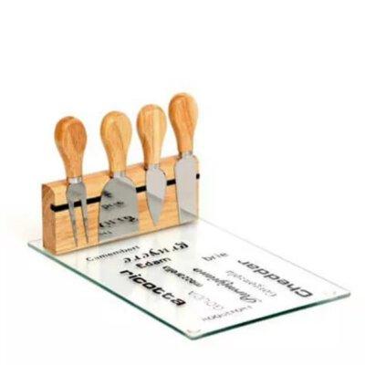 סט מגש זכוכית להגשת גבינה-מתנות לשבועות