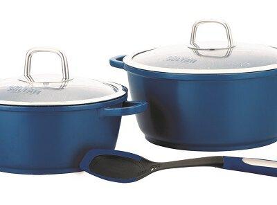 סט סירים 5 חלקים PRISMA-צבע כחול-כלי בית