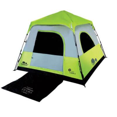 אוהל קמפינג ל-4 אנשים RAPID CABIN UPF50 GoNature-מוצרים לטיולים וקמפינג