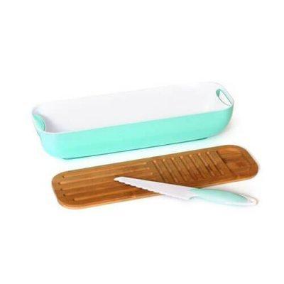 מתקן הגשה רב שימושי וסכין.-כלי בית