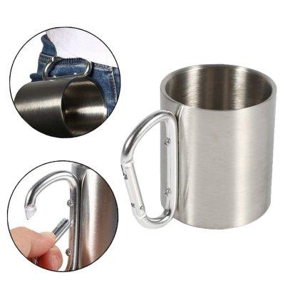 כוס נירוסטה עם ידית שאקל-מוצרים לטיולים וקמפינג