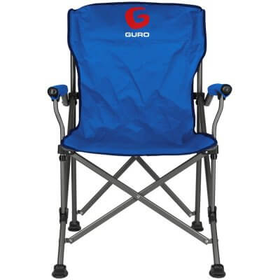 כיסא במאי מהודר כחול GURO-מוצרים לטיולים וקמפינג