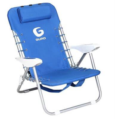 כיסא חוף מתקפל פלדה - כחול-מוצרים לטיולים וקמפינג